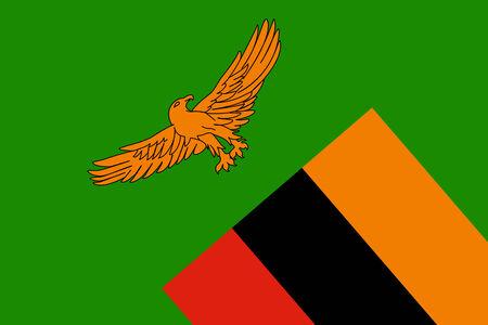 zambia flag: Zambia Flag. Close up. Stock Photo