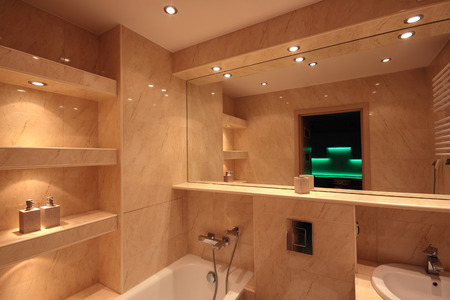 Modern house bathroom interior Standard-Bild