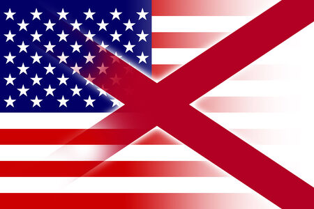 alabama state: USA and Alabama State Flag