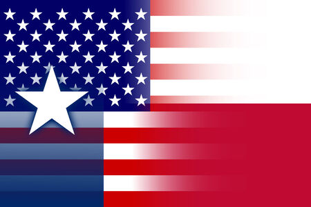 texas state flag: USA and Texas State Flag