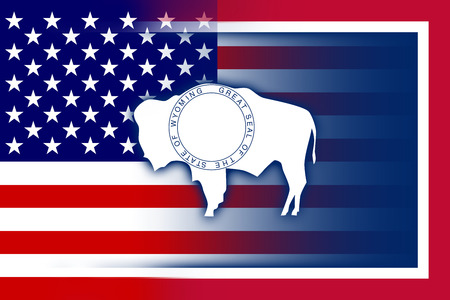 consolidated: USA and Wyoming State Flag