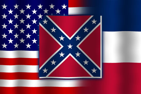 flexure: Waving USA and Mississippi State Flag