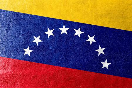 bandera de venezuela: Bandera de Venezuela pintada en textura de cuero