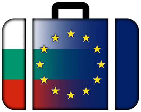 charges: Suitcase with Bulgaria and European Union Flag