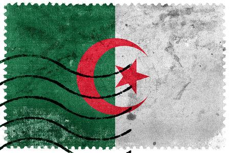 sello postal: Bandera de Argelia - antiguo sello postal
