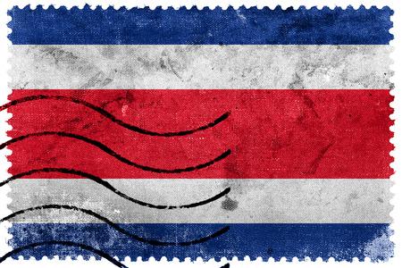 bandera de costa rica: Bandera de Costa Rica - antiguo sello postal Foto de archivo