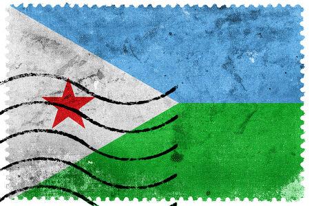 sello postal: Bandera de Djibouti - antiguo sello postal