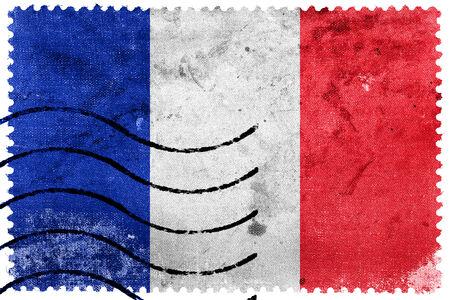 france stamp: France Flag - old postage stamp