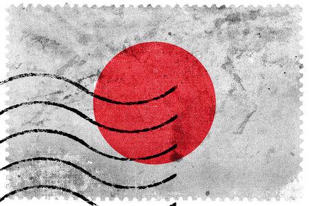 japanese flag: Japan Flag - old postage stamp