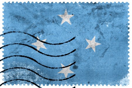 micronesia: Micronesia Flag - old postage stamp