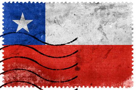 flag of chile: Bandera de Chile - antiguo sello postal
