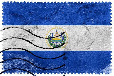 bandera de el salvador: Bandera de El Salvador - antiguo sello postal