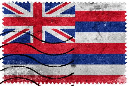 hawaii flag: Hawaii Flag - old postage stamp