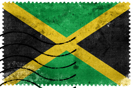 sello postal: Bandera de Jamaica - antiguo sello postal