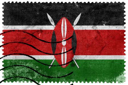 kenya: Kenya Flag - old postage stamp