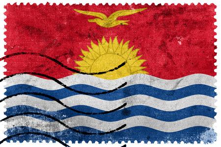 kiribati: Kiribati Flag - old postage stamp