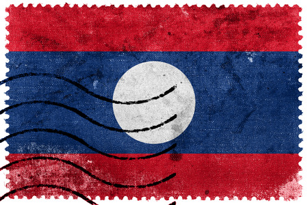 sello postal: Bandera de Laos - antiguo sello postal