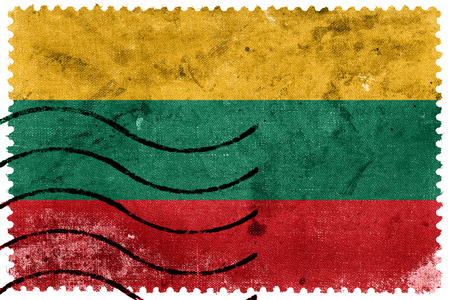 postage stamp: Lithuania Flag - old postage stamp