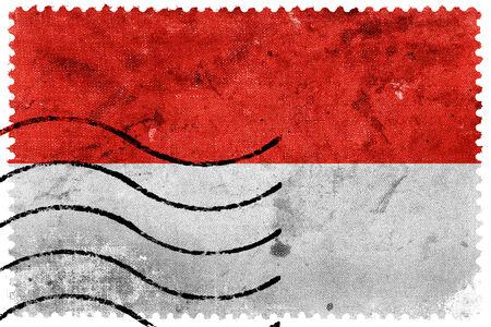 monaco: Monaco Flag - old postage stamp