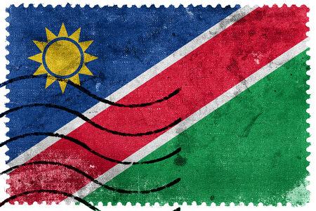Namibia Flag - old postage stamp photo