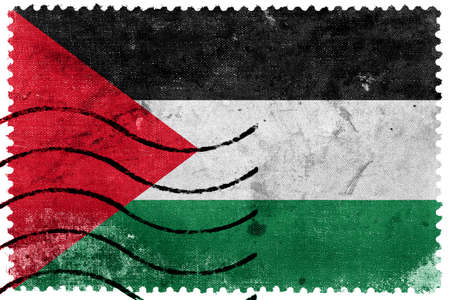 postage stamp: Palestine Flag - old postage stamp