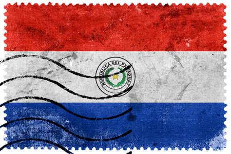 bandera de paraguay: Bandera de Paraguay - antiguo sello postal