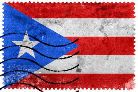 bandera de puerto rico: Bandera de Puerto Rico - antiguo sello postal