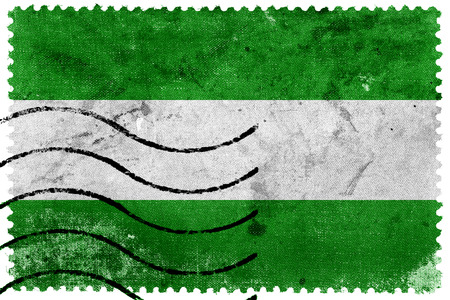rotterdam: Rotterdam City Flag - old postage stamp