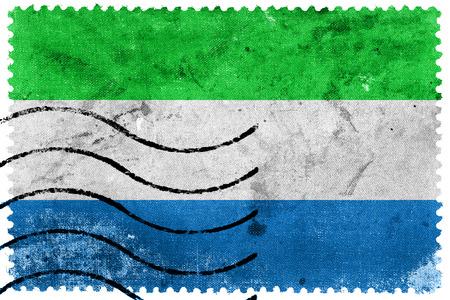 Sierra Leone Flag - old postage stamp photo