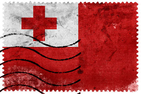 postage stamp: Tonga Flag - old postage stamp