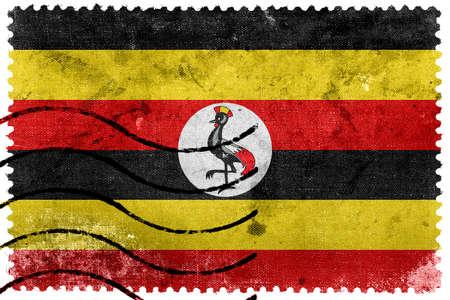 sello postal: Bandera de Uganda - antiguo sello postal