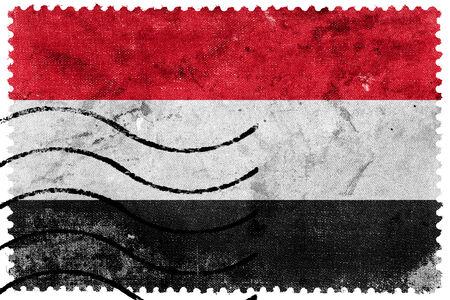sello postal: Bandera de Yemen - antiguo sello postal