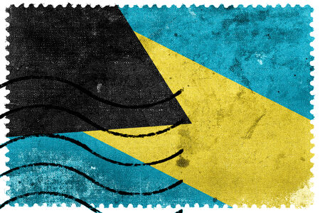 postage stamp: Bahamas Flag - old postage stamp