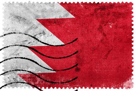 bahrain: Bahrain Flag - old postage stamp Stock Photo