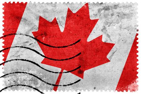 sello postal: Bandera de Canad� - antiguo sello postal