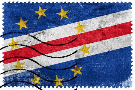 cape verde flag: Cape Verde Flag - old postage stamp