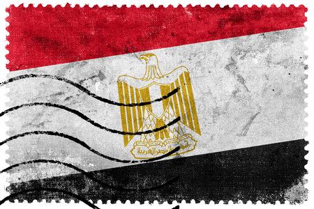 bandera egipto: Bandera de Egipto - antiguo sello postal