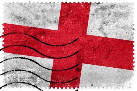 sello postal: Bandera de Inglaterra - antiguo sello postal
