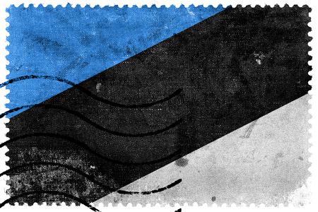 sello postal: Bandera de Estonia - antiguo sello postal