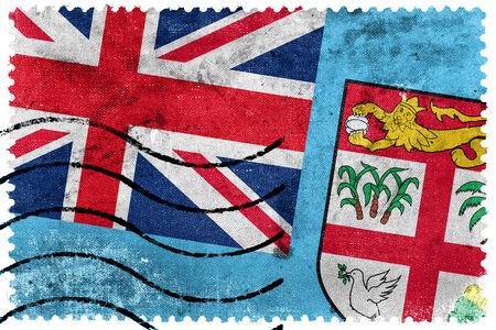 fiji: Fiji Flag - old postage stamp