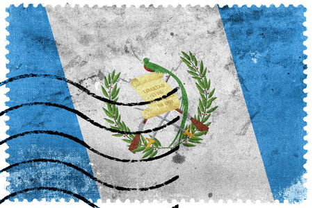 bandera de guatemala: Bandera de Guatemala - antiguo sello postal