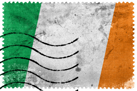Ireland Flag - old postage stamp photo
