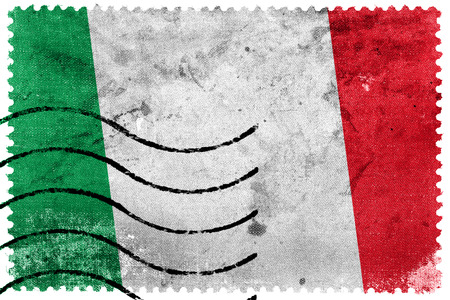 Italy Flag - old postage stamp photo