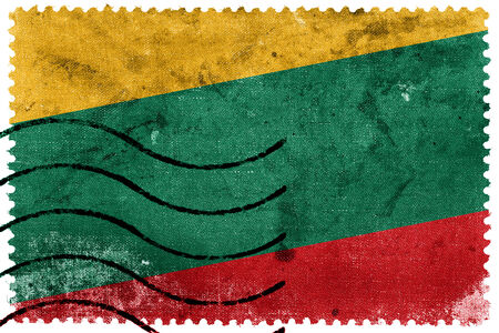 Lithuania Flag - old postage stamp photo