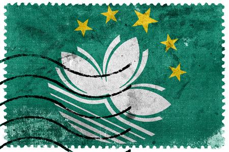 sello postal: Bandera de Macao - antiguo sello postal