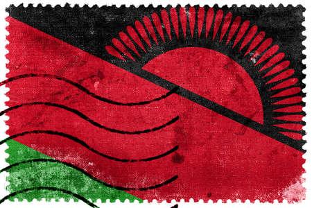 sello postal: Bandera de Malawi - antiguo sello postal