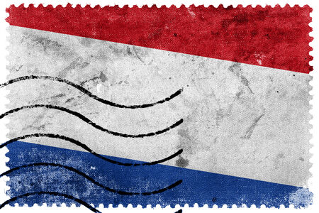 postage stamp: Netherlands Flag - old postage stamp