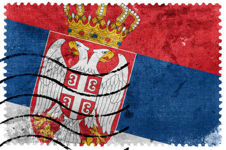 Serbia Flag - old postage stamp