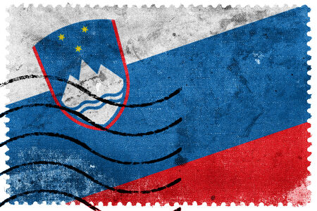 postage stamp: Slovenia Flag - old postage stamp