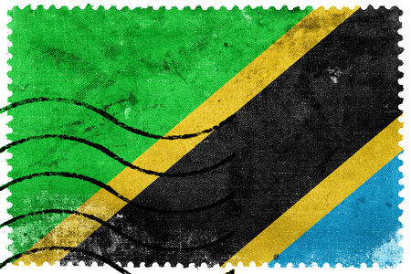 Tanzania Flag - old postage stamp photo